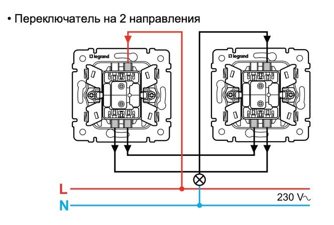 Как подключить (схема подключения) переключатель Legrand 774406